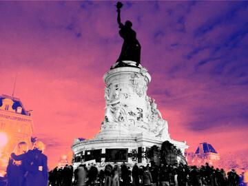 <p>La place de la République à Paris le soir du 14 novembre 2015.</p>
